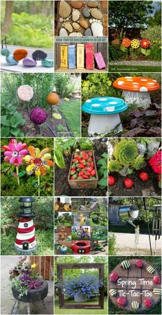 30 Adorable Garden Decorations To Add Whimsical Style To Your Lawn - Probably the cutest backyard and garden decorations. outdoor decor 30 Adorable Garden Decorations To Add Whimsical Style To Your Lawn Diy Garden Projects, Garden Crafts, Diy Garden Decor, Backyard Decorations, Yard Art Crafts, Garden Whimsy, Outdoor Garden Decor, Diy Crafts, Decor Crafts