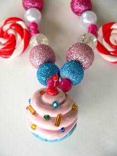 Cupcake Lollipop Candy Land Necklace von twistedlollyboutique