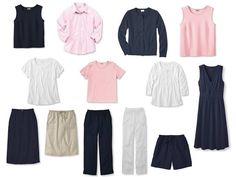 Whatever's Clean SummerCapsule Wardrobe in navy and pink