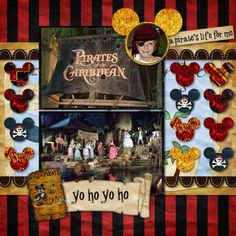Pirates of the caribean ride disney layout