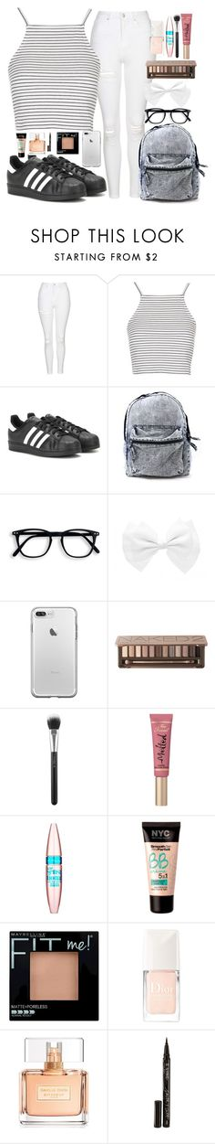 """""""Untitled #123"""" by lipsy-look ❤ liked on Polyvore featuring Topshop, adidas, Urban Decay, MAC Cosmetics, Too Faced Cosmetics, Maybelline, Christian Dior, Givenchy and Smith & Cult"""
