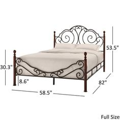 Bronze Iron Bed Antique Scroll Metal Platform Full Brown Headboard Footboard New Iron Furniture, Bedroom Furniture, Furniture Design, Steel Bed Design, Steel Bed Frame, Wrought Iron Beds, Bed Frame And Headboard, Brown Headboard, Iron Decor