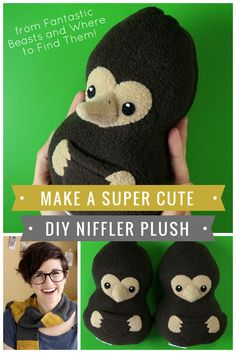 Learn how to make a DIY Niffler Plush from Fantastic Beasts! #crafts #harrypotter #plush #sewing