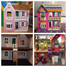 About six months ago my sister gave us a #dollhouse a friend had given her.  I decided it would be perfect as a #Lalaloopsy dollhouse. After countless hours, late nights, and several trips to the craft store, I finally finished it just in time for Christmas! From @Melissa Mae