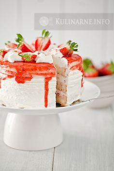 strawberry cake (in polish) Tort z truskawkami
