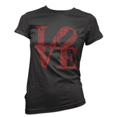 Image of Womens Aphillyated® LOVE Tee (Black/Red)