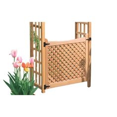Garden Architecture Natural Western Red Cedar Arbor Gate 8203077