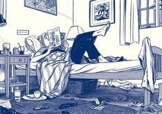 yatak odası iç mekan çizim ev imgesel çizim