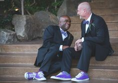 Palm Springs Purple Gay Wedding Myke & Teri Photography