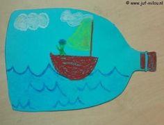 Dit knutselwerkje is maar 1 van de vele die we hebben in het thema piraten, bezoek Juf Milou voor nog meer knutselwerkjes. Diy For Kids, Crafts For Kids, High Five, Primary School, Diy Cards, Baby Room, Birthday Cards, Projects To Try, Education