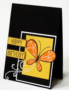Butterfly card.  I totally love how bright and vibrant this card is!