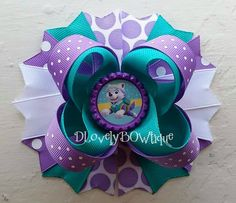 Paw Patrol Everest Boutique Stacked Hair Bow by DLovelyBOWtique