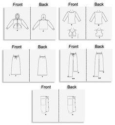 YOGA Sewing Pattern Bra Pants Jacket Skirt Top by patterns4you
