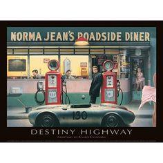''Destiny Highway'' by Chris Consani Humor Art Print