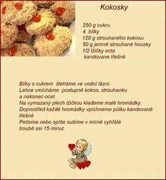 Sweet Recipes, Dog Food Recipes, Czech Recipes, Christmas Cookies, Oatmeal, Sweets, Baking, Breakfast, Recipe