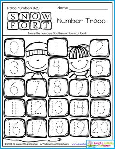 Kindergarten math Counting worksheets Trace numbers 1-20 Winter worksheets Number tracing Please check out my AWESOME 50 page set of Winter Counting Worksheets for Kindergarten! Counting Worksheets For Kindergarten, Number Worksheets, Tracing Worksheets, Kindergarten Math, Polar Bear Color, Print Awareness, Counting To 20, Number Tracing, Numbers
