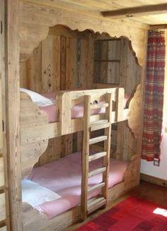 Letto a castello in legno   Cameretta   Pinterest   Bunk rooms ...