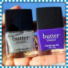 butter LONDON's dynamic duo: Stardust and Bramble Nail Lacquers. All a-glitter for the Holidays? Not until you try these gorgeous nail lacquers, hot from butter LONDON. In addition to their...