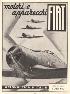 A look at fascist airplane ads of World War II. Ww2 Posters, Poster Ads, Vintage Advertisements, Vintage Ads, Armas Airsoft, Ww2 Propaganda, Old Planes, Airplane Art, Ww2 Aircraft
