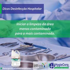 A Hygiecorp preparou uma lista de dicas sobre desinfecção hospitalar!  - Organic Hc:  Foi especialmente desenvolvido para a máxima performance na limpeza de instrumentos cirúrgicos, materiais laboratoriais e em processos de pré-lavagem de utensílios hospitalares em geral.  Na HygieCorp você encontra todos os produtos para a higienização de suas mãos, como sabonetes e álcool gel.   #Dicas #DesinfecçãoHospitalar #OrganicHc #Higyecorp  Fonte: Proslim