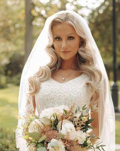 30 Vintage Wedding Hairstyles Old School Ideas ❤ vintage wedding hairstyles hollywood waves with veil hairandmakeupbysteph #weddingforward #wedding #bride #vintageweddinghairstyles #weddinghair