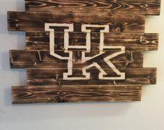 University Of Kentucky Man Cave Ideas : University of kentucky d vintage metal artwork hex head art