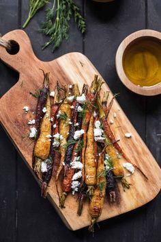 roasted carrot salad with feta and dill