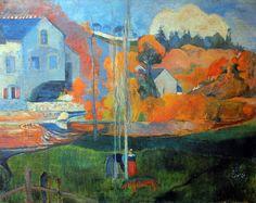 Paul Gauguin - Post Impressionism - Le moulin David de Pont-Aven - 1894