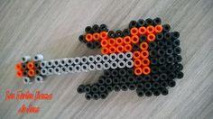 Guitar hama beads by barteletjess on deviantART