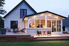 tilbygning, udestue, orangeri, vinterhave, pavillon