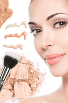 Model face of beautiful woman with foundation on skin make-up cosmetics. Beauty Art, Beauty Makeup, Beauty Hacks, Face Makeup, Makeup Tricks, Makeup Videos, Makeup Guide, Benefit Cosmetics, Grafik Eyeliner