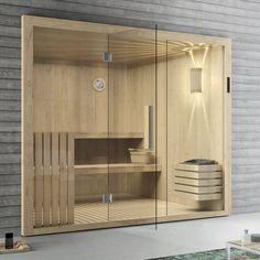 Hammam sauna / residential / steam - ETHOS by Franco Bertoli - HAFRO srl Modern Saunas, Modern Pools, Sauna Steam Room, Sauna Room, Modern Bathroom Design, Bathroom Interior Design, Basement Sauna, Piscina Spa, Sauna Accessories