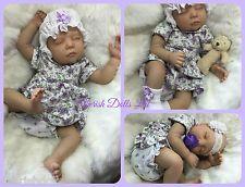 "CHERISH DOLLS NEW REBORN BABY VIOLET FAKE BABIES REALISTIC 22"" BIG NEWBORN GIRL"