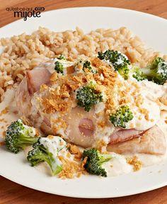 Casserole de poulet, fromage suisse et brocoli faite à l'avance #recette