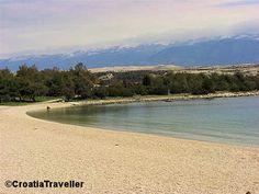 A view of Zrce Beach, Novalja, Pag Island