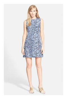 Tory Burch Print Silk Habotai Shift Dress - on #sale 40% off @ #Nordstrom