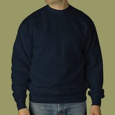 Design Your Own Navy Blue (other colors available) Embroidered Sweatshirt #sweatshirt #Zazzle #embroider #designyourown #clubs #organizations #groups #bulk #company #business #personal #customized