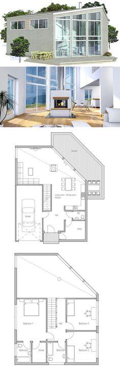 Modern house with unusal shape modern house plan to modern family