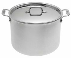 All-Clad Master Chef 2 12-Quart Stockpot by All-Clad. $319.95. Stainless-steel interior; handsome brushed aluminum exterior. 12-quart pot for simmering stocks, soups, and poaching poultry. Lifetime warranty against defects. Pure aluminum core for even heating. Comfortable lid and stay-cool loop handles riveted for strength. Amazon.com                The second generation of All-Clad's Master Chef line (MC2), this cookware combines brushed aluminum with stainless-...