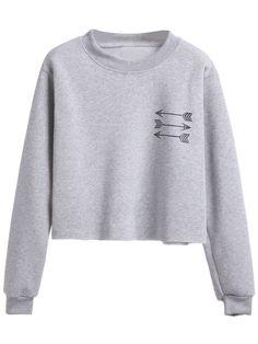 Shop Grey Arrow Print Sweatshirt online. SheIn offers Grey Arrow Print Sweatshirt & more to fit your fashionable needs.