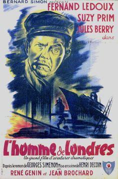 """The London Man (1943) """"L'homme de Londres"""" (original title) Stars: Fernand Ledoux, Suzy Prim, Jules Berry ~ Director: Henri Decoin"""