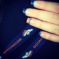 Denver Bronco Nails @Shari Brown Prestanski