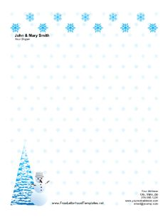Free Printable Christmas Letterhead Templates    Christmas