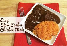 Easy and delicious slow cooker recipe for chicken mole.