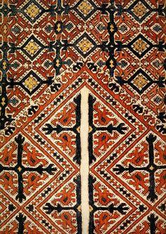 Рубаха женская.Фрагмент.2половина 19 века.Манси