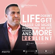 "Life doesn't get easier or more forgiving, we get stronger and more resilient."" -- Steve Maraboli.  Have a great week ahead!  #QOTD (scheduled via http://www.tailwindapp.com?utm_source=pinterest&utm_medium=twpin&utm_content=post172842845&utm_campaign=scheduler_attribution)"