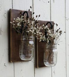 NEW...Rustic Farmhouse... Wood Wall Decor... 2 by cottagehomedecor