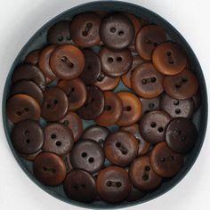 Corozo nød mørk brun 15mm - Corozo nød - Knapper