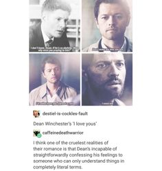 you know what. i just cant take all these destiel feels. peace out im done. JUST KIDDING GIVE ME ALL THE DESTIEL IM ALREADY DEAD INSIDE.