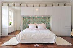 Stämningsfullt: Utnyttjad yta Modern Bedroom Design, Contemporary Interior Design, Master Bedroom Design, Contemporary Bedroom, Home Bedroom, Bedroom Furniture, Bedroom Decor, Bedroom Ideas, Bedroom Storage